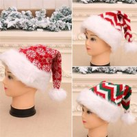 Knitted Long- Staple Striped Christmas Hat Children Adult Chr...