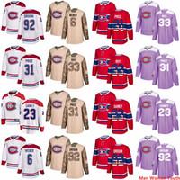 Uomini personalizzati Donne Giovani Gioventù Montreal Canadiens Qualsiasi nome Patrick Roy 31 Carey Prezzo 6 Shea Weber 6 Shea Weber 92 Drouin USA Bandiera maglie da hockey