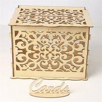 نحت حالة MrMs صندوق خطوط الخشب تجميع هدية حامل منظم مع قفل الحاويات بطاقة التخزين حفل زفاف 19 5jma C2