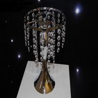 DIY Çelenk ekran kek standı çiçek Yol Kurşun düğün dekorasyon için Düğün Masa Centerpieces Metal Çiçek Vazo Cystal Ekran Raf