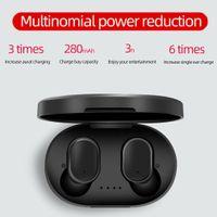 2020 A6S TWS بلوتوث 5.0 سماعة الضوضاء إلغاء سماعة Fone مع مايكروفون يدوي سماعات الأذن ل Xiaomi Redmi Airdots Wireless