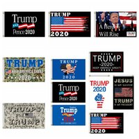 Trump 2020 Flags 90*150cm Camo USA President Election Flags Make America Great Again Trump President Camouflage Banner Flags CCA12392 30pcs