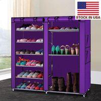 Storages Make Up Organizer Storage Double Rele Rows 9 Lattices Combinazione Style Shoe Armady Purple