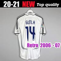 # 7 Raúl # 9 Ronaldo # 23 Beckham Retro 06 07 Real Madrid Soccer Jersey Vintage 2006 2007 Camisa de fútbol Cannavaro Marcelo Higuain Camiseta