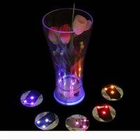 Leuchten LED-blinkende Flasche 3M Aufkleber-Schalen-Becher Coaster Schalenmatte für Feiertags-Party-Party Bar Clubs