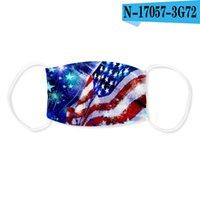 2020 Máscara bandera americana mascarilla la boca cubierta para adultos EE.UU. impresión en 3D a prueba de polvo respirable lavable con el bolsillo de filtro Kid CYF4270c Máscara para adultos