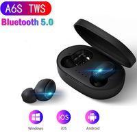 A6S Bluetooth Auricular para Xiaomi Airdots Earbudos inalámbricos 5.0 TWS Auriculares Cancelación de ruido Mic para Redmi iPhone Huawei Samsung DHL