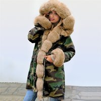 Camouflage X- Long Winter Womens Coats Fleece Thick Warmth Ho...