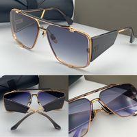 Novo design homens sunglasses 136 retro sunglasses forma fundo quadrado grandes pernas quadro UV 400 lentes populares ao ar livre