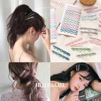Clipes de cabelo 6.5cm Longa conjunto bonito cor bobby pins meninas onda coração kot hairpins mulheres acessórios grandes barrettes de metal