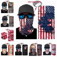 Máscara de EE.UU. Bandera magia Pañuelo Bandana Ciclismo cabeza Pañuelos deporte al aire libre a prueba de viento Camouflag multifuncional Headwear LJJP165