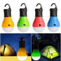 MINI Portable Tente Lanterne Lumière LED Ampoule Lampe d'urgence Appareil imperméable Crochet de chaise de poche pour accessoires de meubles de camping OOA5644