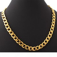 18K Gold Plated Chunky Necklace Bracelet Chains 18K Stamp Men's High Quality Snake Necklace 11MM 55CM 22'' Wholesale YS754