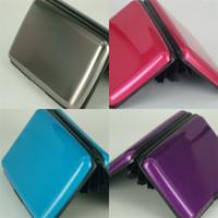 Алюминиевый сплав пластиковые сумки для хранения карты карты алюминиевая поверхность цветной коробка шина визитная карточка держатель богатый цвет довольно хороший 1 59yg e2
