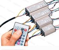 الإضاءة المحولات RGB محول 10W 20W 30W 50W السلطة الكاملة للماء AC110V 220V الألومنيوم مع 24Keys لالكاشف Blub الجدار مصباح DHL