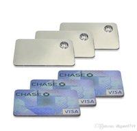 고품질 신용 카드는 지갑 실버 유리 파이프 무료 배송에 클릭 재미 금속 자석 맞춤 흡연에 대한 금속 파이프 흡연