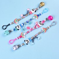 Baby Pacifier Clip Pacifier Chain Panda Beads Handmade Cute ...