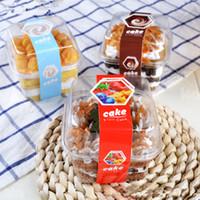 Presentförpackning 50st High Quality Square Transparent Box Pet Plastic Ice Cream Pudding Jelly Cup Förpackning Fruktsalladkaka Dessert Koppar