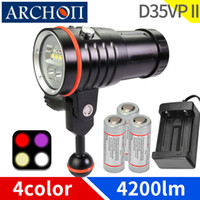 D35VP II fotografía cálida de buceo blanco Iluminación luz de vídeo de buceo UV Red HD bajo el agua 100m luces de relleno