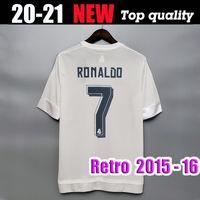 2015 Ronaldo Real Madrid Soccer Jerseys Retro Benzema Camicia da calcio 15 16 James Vintage Camiseta de Fútbol Pepe Sergio Ramos Maillot