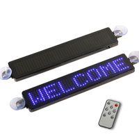 NUEVO 12V Coche LED Sign Control Remoto Programable Información de Rolling LED LED Uber Taxi Pantalla Pantalla Tablero 7x41 Pixels DIY KIT