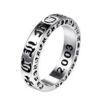 925 Стерлингового Серебра Американская Европа Кольца Палец Ювелирные Изделия 2020 Ручной Дизайнер Крехи Античный Серебряный Хип-Хоп Ленточное кольцо для мужчин
