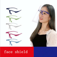 Colorful Glasses Clear Anti-Fog Isolation face masks Transparent Protection Prevent Splashing Protective adult Face Shield YYA312 100pcs