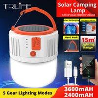휴대용 손전등 태양 광 LED 캠핑 등 야외 텐트 램프 비상 조명 USB 충전식 전구 홈 사용 280W 190W를 5gears