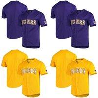 Hombre LSU Tigres NCAA Jersey 100% cosido LSU Tigres Vapor Intocable College Baseball Jerseys Envío gratis S-XXXL