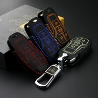 key case for lincoln KMZ/MKC 2014 Genuine Leather Car Key Cover wallet for ford escort 2015 2016 taurus key2s