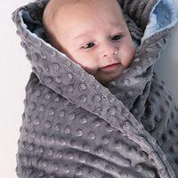 80x75cm Baby Minky Blanket Newborn Baby Bedding Nap Soft Bedding Blankets Flannel Fleece Swaddle Wrap