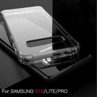 preuve de choc acrylique transparent Téléphone cas pour l'iPhone 11 12 TPU dur Samsung Galaxy S10 S9 plus Note 10 plus A50 A70