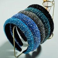 Heet verkoop gevoerde steentjes hoofdbanden Volledige Crystal Luxe Designer Haarbanden Bejewled Women Diamond Hoofdband Mode Haar Sieraden