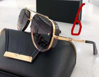 óculos de sol novos 2020 DTS210 titânio puro quadro completo condução eyewear liga de óculos de proteção pretos cinzentos ouro óculos dos homens high-end personalizado quente melhor