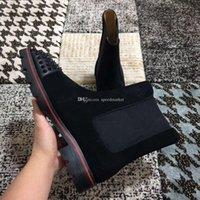 Top Quality Мужская Red Bottom Boots Winter Black неподдельной кожи Мартин сапоги Мода Классический Повседневная обувь Man Red Sole Boots Бесплатная доставка