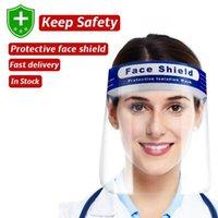 EEUU Stock UPS PET Protección de la cara llena Escudo de Máscara de la seguridad de los niños de PVC transparente adulto del niño de la cubierta protectora de ojos y rostro sombrero Boca Máscara de pantalla
