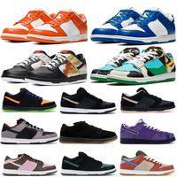 최고 품질의 낮은 편안한 플랫폼 신발 Chunky Dunky Travis Scotts 캐주얼 스니커즈 넥타이 염료 블랙 화이트 Varsity Royal Shoes 36-45