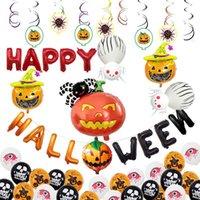 Cadılar Bayramı Kabak Hayalet Balonlar takımları Cadılar Bayramı Süslemeleri Örümcek Folyo Balonlar Şişme Oyuncaklar Bat Cadılar Bayramı Partisi DBC VT0547 Malzemeleri