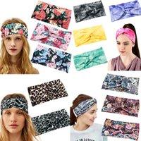 Qualitäts-Krawatten-Stirnband Breite Bohemian Leopard Blumendruck Farbe Stirnband Damen Sport Yoga Haarreif