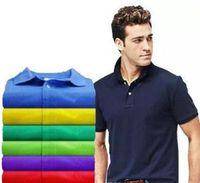 2020 베스트셀러 새로운 악어 폴로 셔츠 남성 짧은 소매 캐주얼 셔츠 남자의 단단한 고전 t 셔츠 플러스 Camisa 폴로