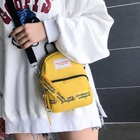Fashion Ladies Bag Simple Streamers Shoulder Bag Trendy Simple Mini Messenger Bag Canvas Leisure Crossbody P