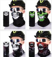 Naadloze Magic Bandana Outdoor Sports Riding Mask Multifunctionele Hoofddeksels Hoofdband Neckwarmer Magic Sjaal Horror Sjaals GGA3570