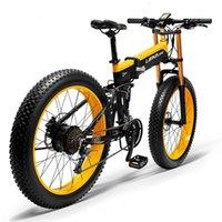 """Yağ 26 """"Artı Lastik Katlanır Çin Elektrikli Bisiklet Scooter Bisiklet 27 Hız 48 V 1000 W Kar Dağ Plajı Cruiser E-Bike Fatbike"""