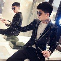 Gzdeerax Spring Trend Prom Blazers Men Luxury Wave Point Single Breasted Male Blazer Fashoin Slim Fit Party Man Blazer 3XL