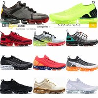 Nike Air Vapormax Run Utility CPFM Mens Womens MOC FLY MALHA Running Shoes Orca Triplo Preto Volt Almofada Sports Trainers externas Sneakers