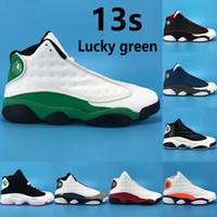 НОВАЯ 13 счастливчиков зеленый 13s баскетбольная обувь обратный он получил игру белой черной красной площадки низкой чатни мужчин на открытом воздухе мужских кроссовки