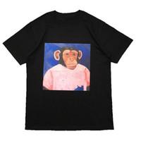 Street Fashion Mens-T-Shirt 2020 Affen Muster Polos Short Sleeve Tennis-T-Shirts Männer Frauen Paar Stylist-Qualitäts-Pullover T