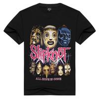 Uomo Donna Slipknot / maglietta di metalli pesanti magliette di estate supera i T ogni speranza è una T-shirt andato magliette della band rock più il formato Uomini MX200508