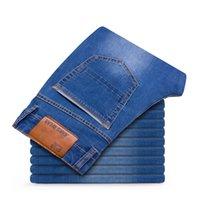 Odinokov 2020 Outono Inverno Mens jeans stretch Casual ajuste solto Denim calças calças Plus Size 35 36 38 40 42