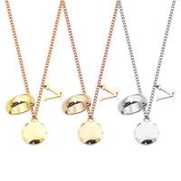 316L Титановая сталь V Письмо Двухместный Ожерелье Кольца Ожерелье Ювелирные Изделия для праздничных подарков